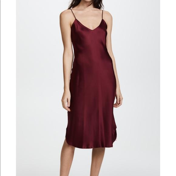 533a68b543ca Nili Lotan Dresses | Burgundy Silk Cami Dress | Poshmark